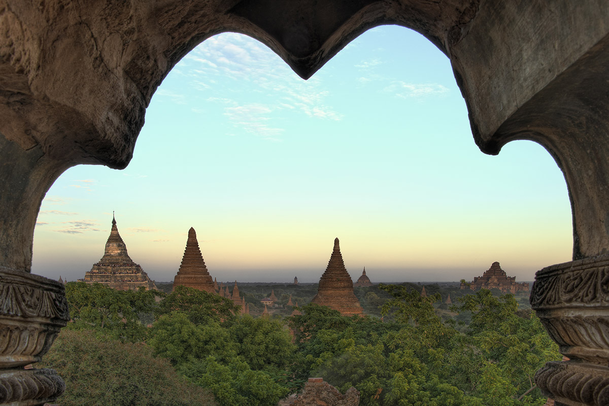 Framed View on Bagan Plains