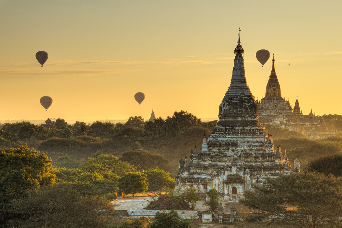 Bagan Balloons at Sunrise I