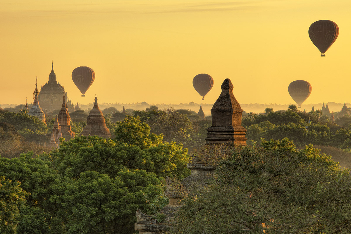 Bagan Balloons at Sunrise II